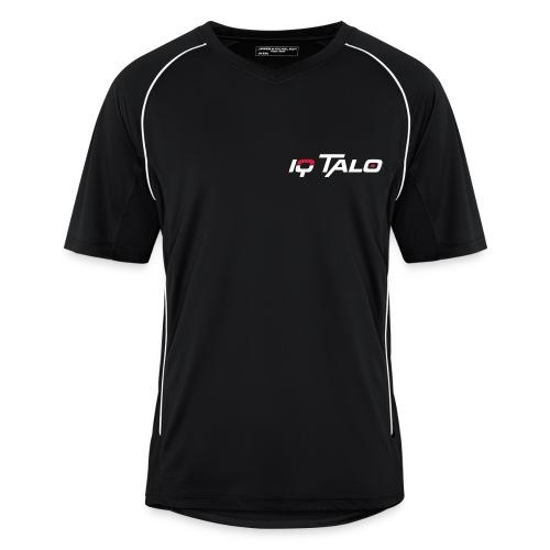 IQ Talo Trikot Schwarz Flockdruck - Männer Fußball-Trikot