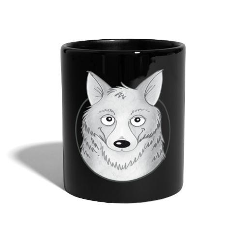kleiner Wolf - Tasse farbig - Tasse einfarbig
