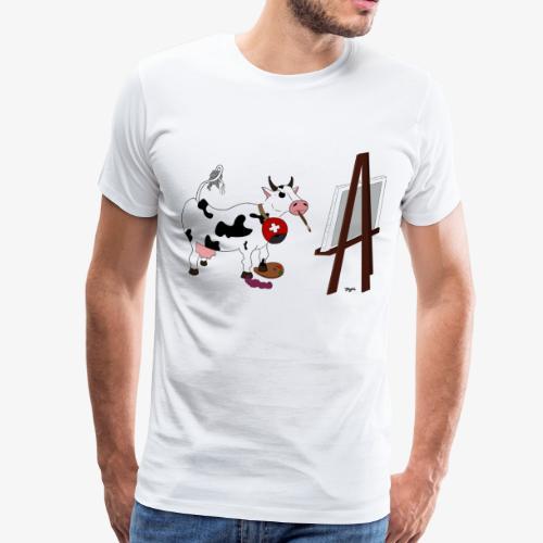 La vache! au boulot - Männer Premium T-Shirt