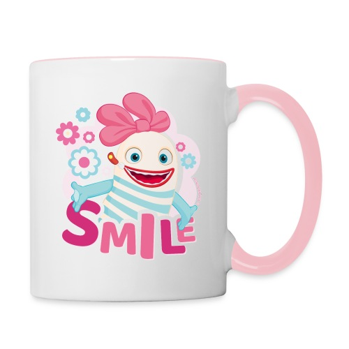 Sorgenfresser Lilli Smile Blümchen - Tasse zweifarbig