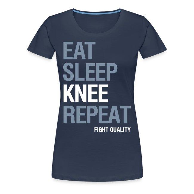 Womens Eat Sleep Knee Repeat T-Shirt