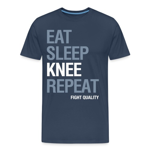 Mens Eat Sleep Knee Repeat T-Shirt - Men's Premium T-Shirt