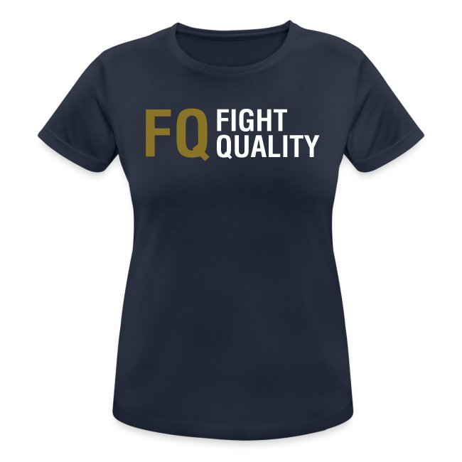 Womens Navy Breathable Training Brand T-Shirt