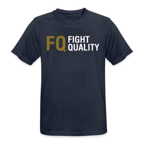 Mens Navy Breathable Training Brand T-Shirt - Men's Breathable T-Shirt