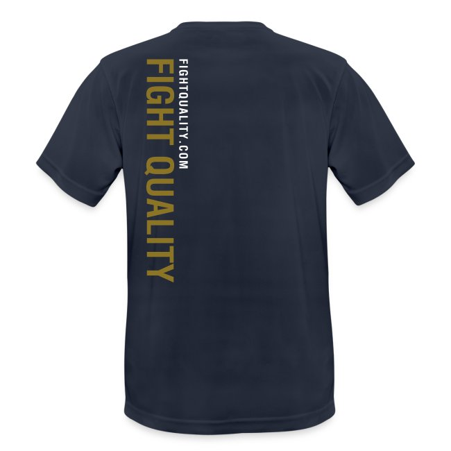 Mens Navy Breathable Training Brand T-Shirt