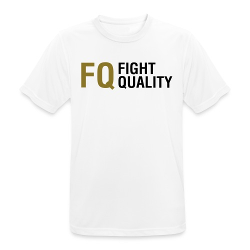 Mens White Breathable Training Brand T-Shirt - Men's Breathable T-Shirt