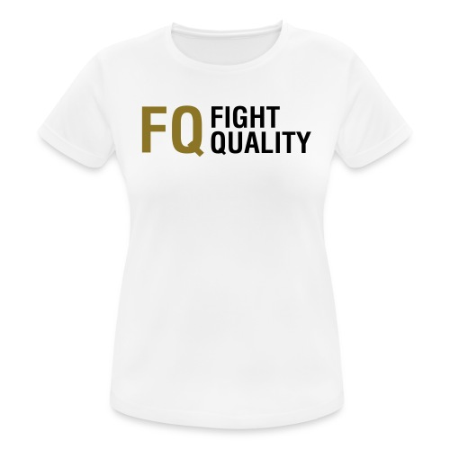 Womens White Breathable Training Brand T-Shirt - Women's Breathable T-Shirt