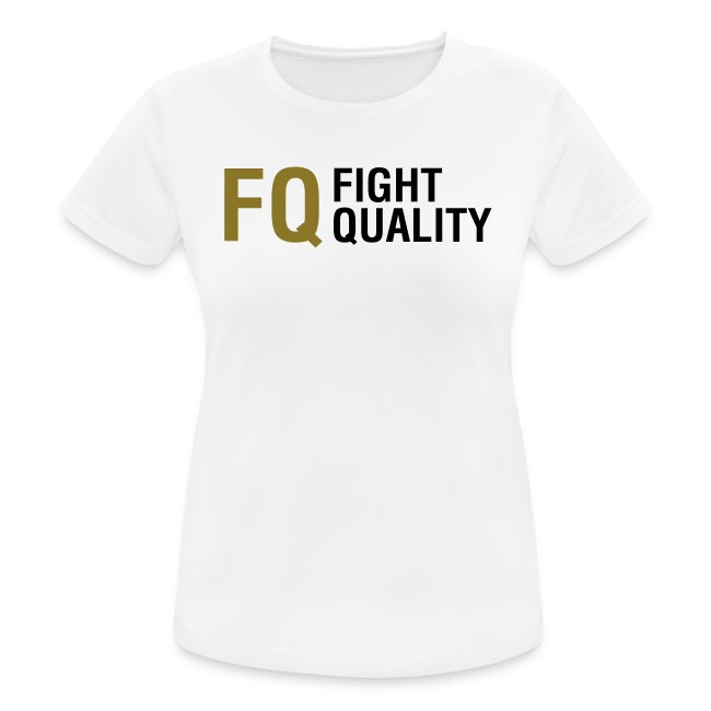 Womens White Breathable Training Brand T-Shirt