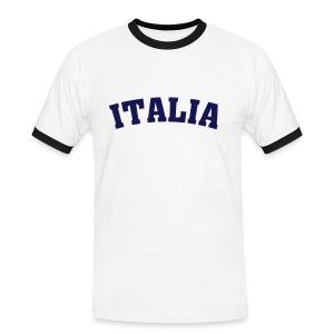 T-Shirt Italia - Mannen contrastshirt