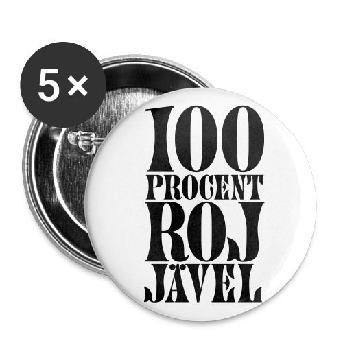 100% RoJ-Jävel - Stora knappar 56 mm (5-pack)