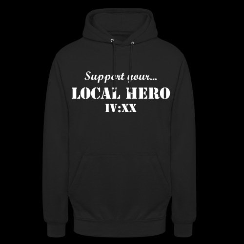 LIMITED IV:XX Support Your Local Hero Hoodie - Luvtröja unisex