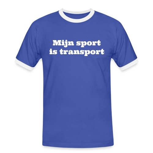 Mijn sport is Transport - Mannen contrastshirt