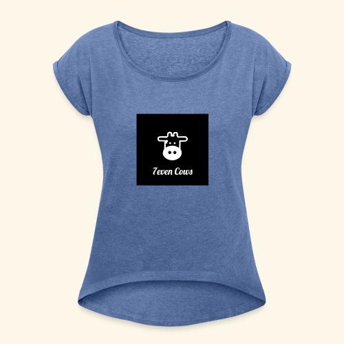 7even Cows, women - Frauen T-Shirt mit gerollten Ärmeln