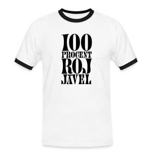 100% RoJ-Jävel herr - Kontrast-T-shirt herr