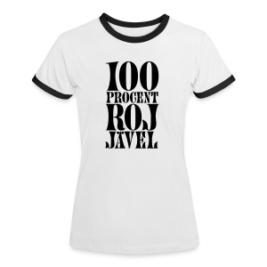 100% RoJ-Jävel dam - Kontrast-T-shirt dam