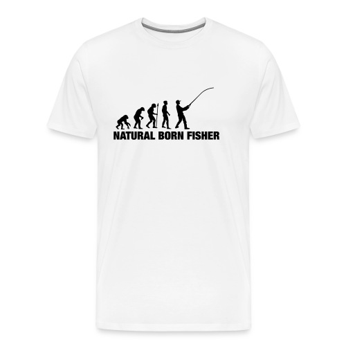 NATURAL BORN FISHER - Männer Premium T-Shirt