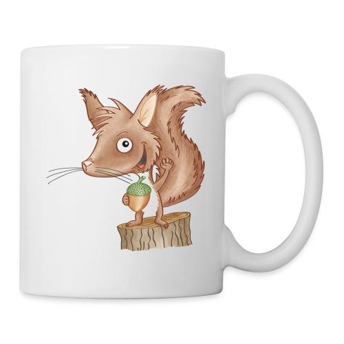 keckes Eichhörnchen - Tasse weiß - Tasse