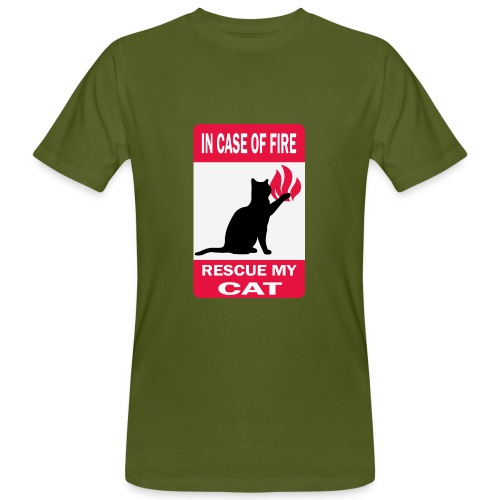 In case of fire, rescue my cat - T-shirt bio Homme