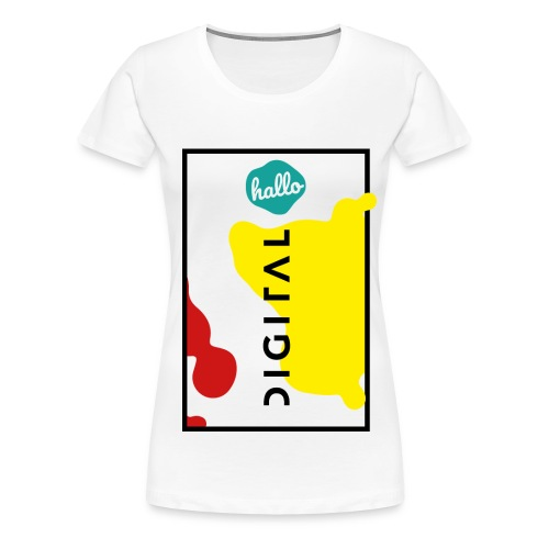 hallo.digital - Crew Shirt Female - Frauen Premium T-Shirt