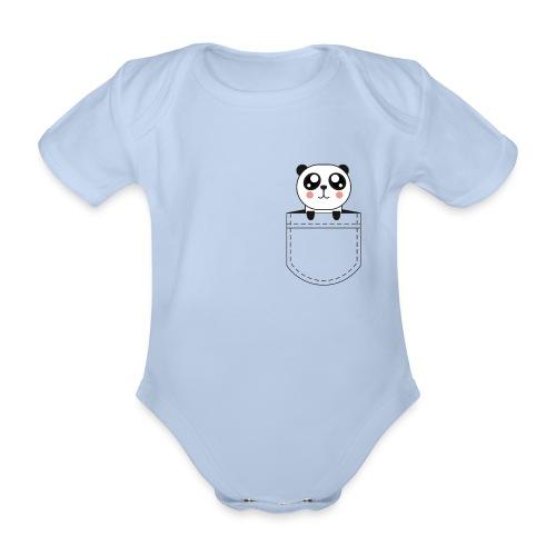 Body Panda dans la poche - Body bébé bio manches courtes
