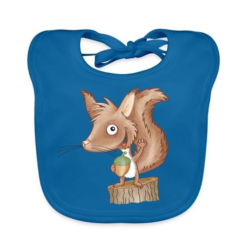 keckes Eichhörnchen - Baby Bio-Lätzchen - Baby Bio-Lätzchen