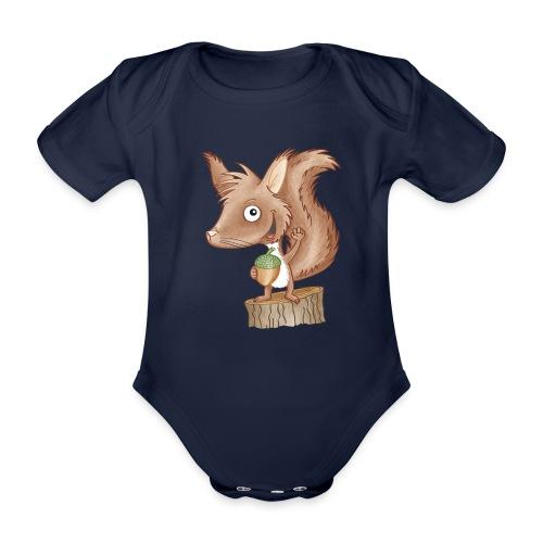 keckes Eichhörnchen - Baby Bio-Kurzarm-Body - Baby Bio-Kurzarm-Body