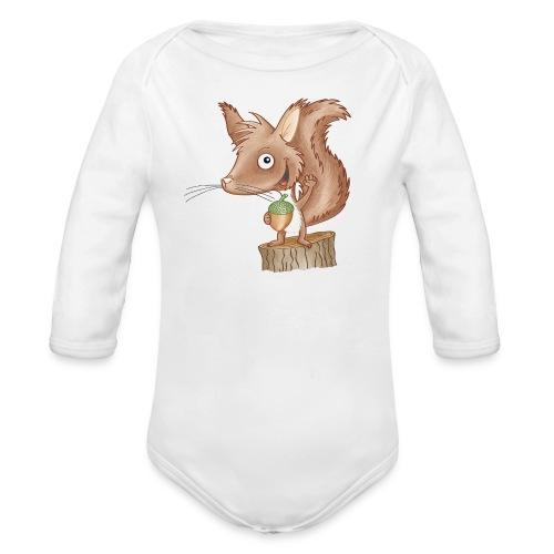 keckes Eichhörnchen - Baby Bio-Langarm-Body - Baby Bio-Langarm-Body