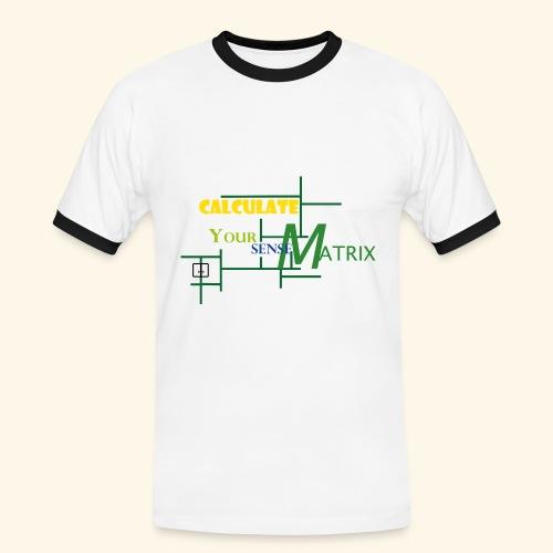 your_sense-MatrixMAIN4 - Männer Kontrast-T-Shirt