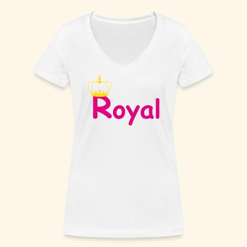 justROYALw1 - Frauen Bio-T-Shirt mit V-Ausschnitt von Stanley & Stella