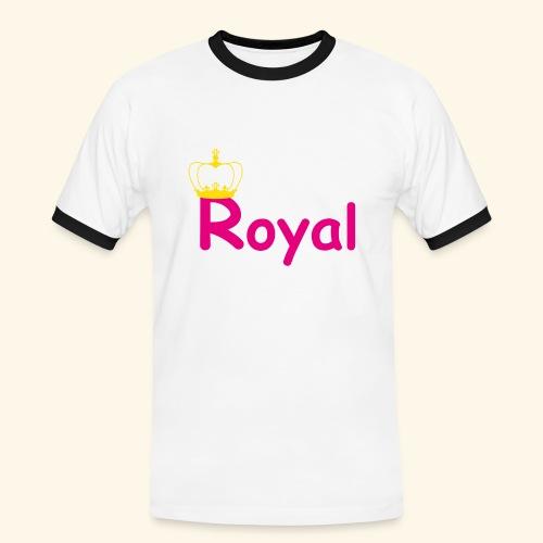 justROYALm1 - Männer Kontrast-T-Shirt