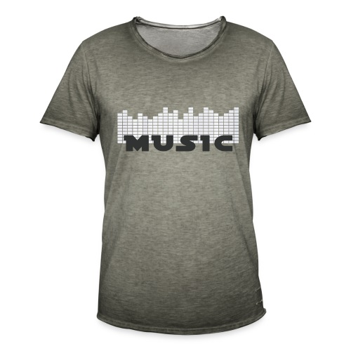 Musically shirt men - Männer Vintage T-Shirt
