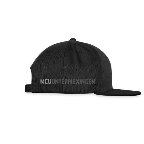 MCU-Cap 1 farbiger Aufdruck Stirn und Seite - Snapback Cap