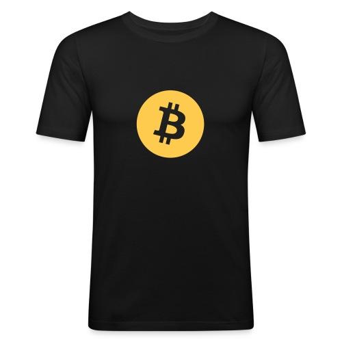 Bitcoin logo - Männer Slim Fit T-Shirt