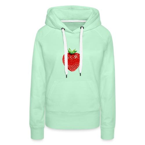 Erdbeere Früchtchen unwiderstehlich rote Frucht - Frauen Premium Hoodie