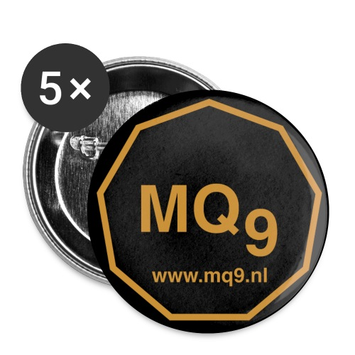 www.mq9.nl 25mm - Buttons small 1''/25 mm (5-pack)