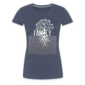 VBFamilyTree FEMALE (White Print) - Women's Premium T-Shirt