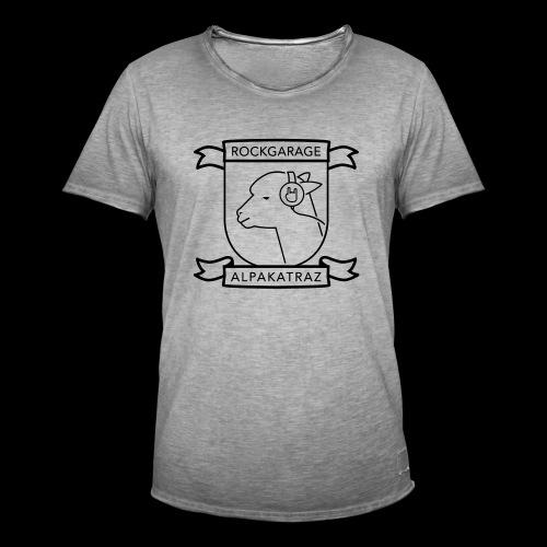 Männer Vintage T-Shirt (Logo schwarz), Farbe von Shirt und Logo bzw. Druckart anpassbar - Männer Vintage T-Shirt