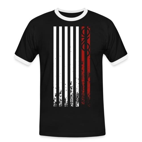 9763//JONO - Flag Stripes - Men's Ringer Shirt
