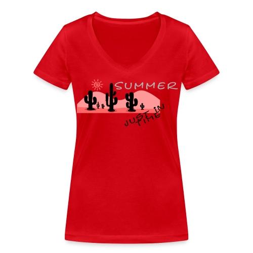 Summertime Shirt - Frauen Bio-T-Shirt mit V-Ausschnitt von Stanley & Stella