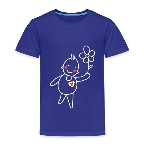 Strichmännchen Valentinstag Graffiti Sonnenblume - Kinder Premium T-Shirt
