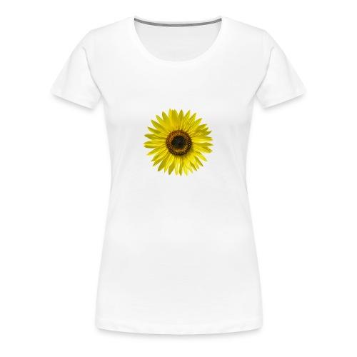 Sonnenblume Sommer Sonnenstrahlen glücklich hygge - Frauen Premium T-Shirt