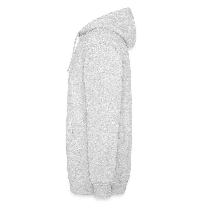 Sweat capuche blanc logo bicolore double