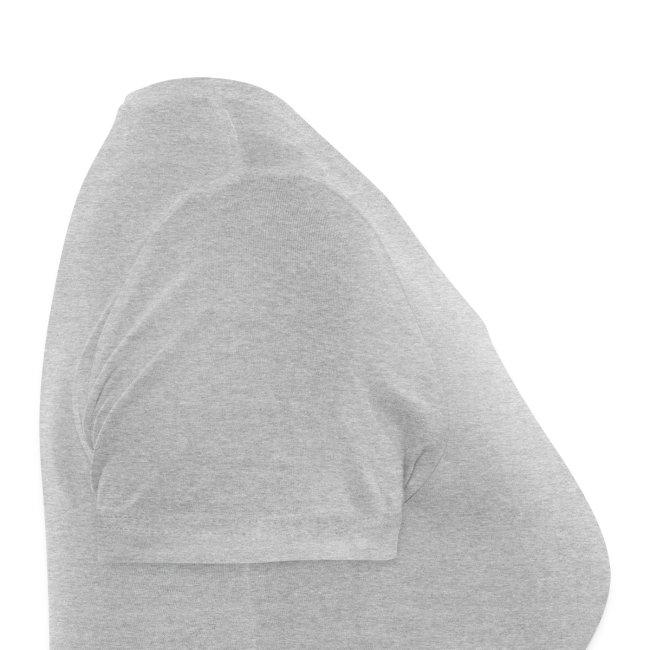 T-shirt femme blanc manches courtes double logo bicolore