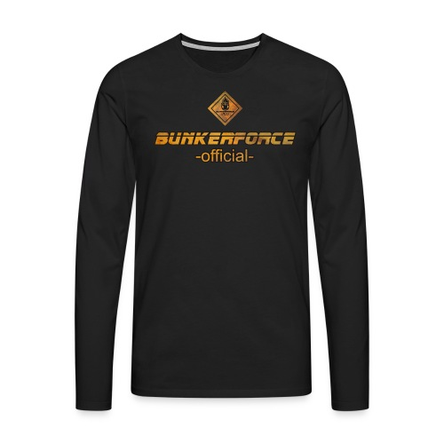 Longsleeve #Bunkerforce-Warning - Männer Premium Langarmshirt