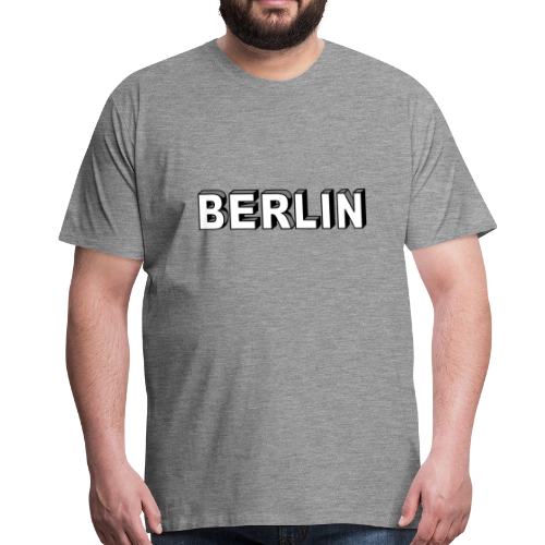 BERLIN Blockschrift - Männer Premium T-Shirt