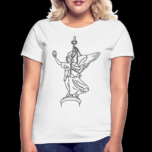 Goldelse auf der Siegessäule  - Frauen T-Shirt