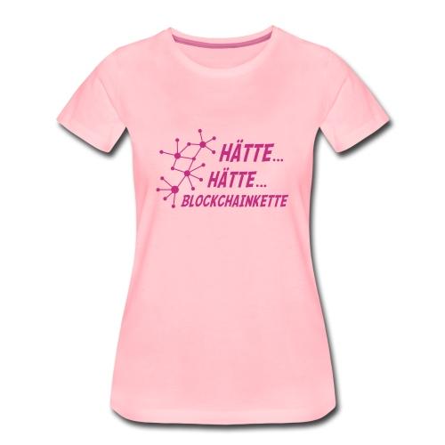Blockchainkettengirlieshirt - Frauen Premium T-Shirt
