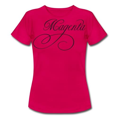 ZVETA Magenta glitzer - Frauen T-Shirt