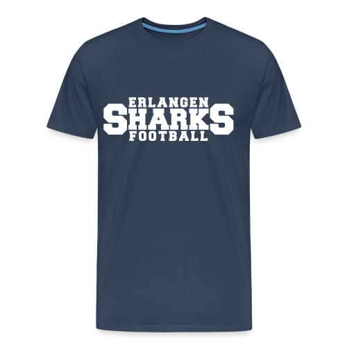 Old School Football Premium T-Shirt (m, navy/weiß/rot) - Männer Premium T-Shirt
