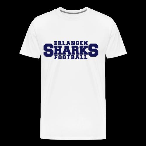 Old School Football Premium T-Shirt (m, weiß/navy/rot) - Männer Premium T-Shirt